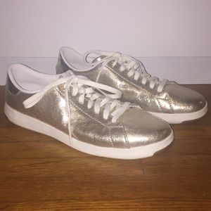 Cute gold Cole Haan Grandpro tennis shoes!